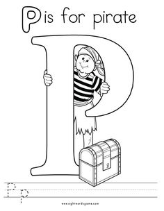 letter p coloring page 3