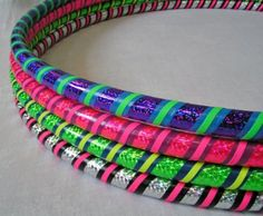 Sparkly weight hula hoops put the FUN into fitness for kids (and grown-ups) of all ages. | #gift #holiday #exercise
