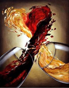 Fusión vino tinto y blanco