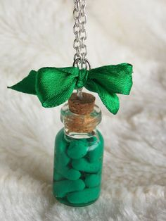 Miniature Pickle Food Necklace  Funny Necklace  by TashTashJewelry, $9.20