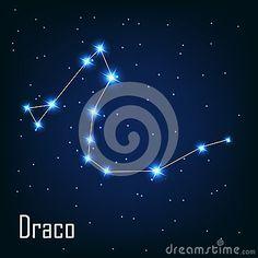 L étoile de Draco de constellation dans le ciel nocturne.