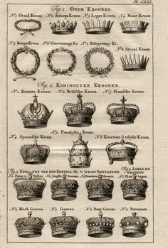 Crown Shapes. Never know when I might need!!