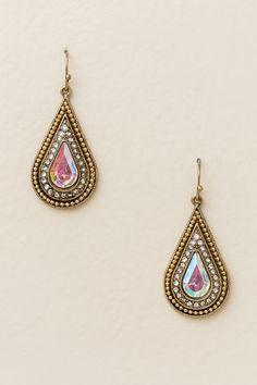 Verma Teardrop Earrings In Metallic