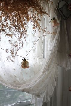 dried rose garland