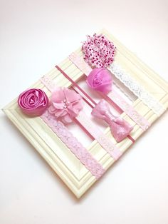 A personal favorite from my Etsy shop https://www.etsy.com/listing/260923409/valentines-day-headband-set-baby-girl