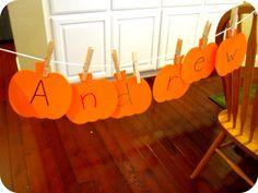 Toddler Approved!: Name Pumpkin Spelling Hunt