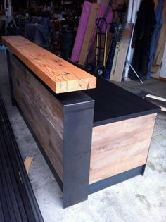 Reclaimed Reception Desk by buschdesign on Etsy