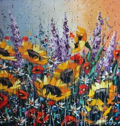 Sabina - thefallenleafgallery Golden Rush 36 x 36 acrylic on canvas $1950
