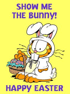 Garfield.... the Easter Bunny  | Flickr - Photo Sharing!