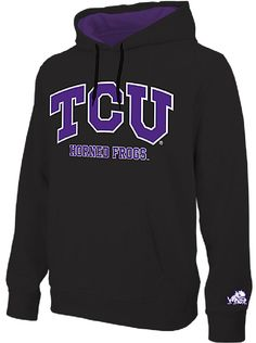 259d90bcd NCAA TCU Horned Frogs Black Embroidered College Classic Hoodie Sweatshirt   49.95 Fan Gear