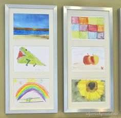 16 Ways to Display Kids' School Art Projects - Spaceships and Laser Beams