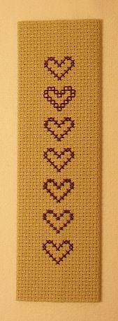 Straight-Edged Cross Stitch Bookmark