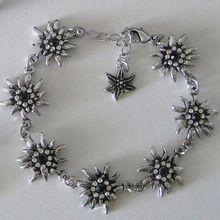 OEM German Bavarian Edelweiss Silver Bracelet