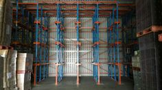High density storage system for fast moving products! Pallet Racking, Pallet Storage, Racking System, Shelving, Products, Shelves, Shelving Units, Shelf, Gadget