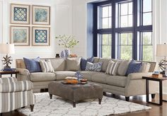 Piedmont Gray 2 Pc Sectional . $1,695.00. 104W x 126D x 37H. Find affordable Living Room Sets for your home that will complement the rest of your furniture.