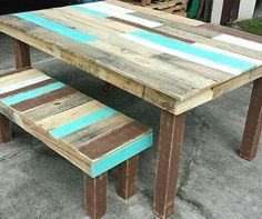 STYLEITCHIC-SHOP saved to IDEAS FOR ZI want to put this on one wall with a guest bed but painted different colors #diyproject #palletproject #pallet #reclaimedpallet
