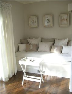 seating nook in small unused space