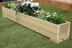 Great Wooden Garden Planter Trough 150cm Length Decking Plain