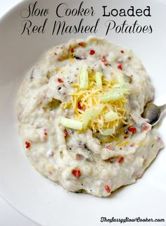 Slow Cooker Loaded Red Mashed Potatoes