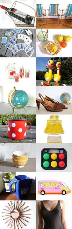 ** Vintage Summer ** by Jeannette on Etsy--Pinned with TreasuryPin.com #Etsy #EtsyFR #FrenchVintage #French #vintage #VintageFinds #vintagefr #retro #holidays #vacation #summer