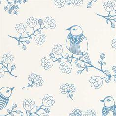 Majvillan, Tapet, Sugar tree, blå/hvit Tapeter Tapeter & veggdekorasjoner Barnerom hos Lekmer.no på nettet.