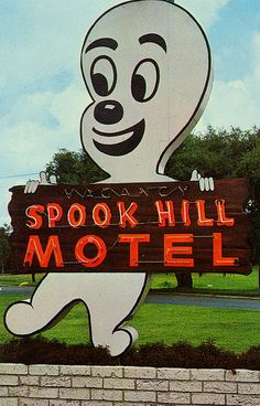 spook hill motel. i wonder if it's haunted?