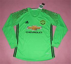 Manchester United Jersey 2016/17 Green LS Goalkeeper Soccer Shirt