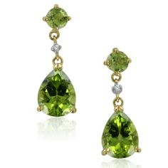 Diamond and Pear Shape Peridot Drop Earrings in 10k Yellow Gold, 3.75 cttw, Certiifcate of Authenticity My Love Wedding Ring, http://www.amazon.com/dp/B0092K33MQ/ref=cm_sw_r_pi_dp_YH5krb1PQP07Q