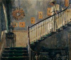 Walter Richard Sickert - Ethel Sands Descending the Staircase at Newington 1920