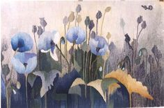 """Tapestries: Poppies 3 Designer: Anna Brokowska 35"""" x 58"""" wide"""