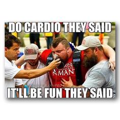 """65 Gym Memes Offering Fitness Motivation in 2020 65 Gym Memes - """"Do cardio they said. It'll be fun they said. Gym Humour, Workout Humor, Gym Workouts, Funny Workout Memes, Running Humour, Exercise Meme, Exercise Cardio, Exercise Quotes, Fitness Studio Motivation"""