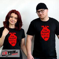 Tricouri pentru Cupluri, My heart beats for you Chemistry Art, In A Heartbeat, Beats, My Heart, Club, Mens Tops, T Shirt, Women, Fashion