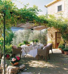 Verandah under wisteria