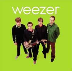 """Green Album"". Weezer. Album art. Art Direction by Chris Bilheimer. Photography from Marina Chavez and Karl Koch."