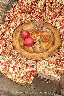 Morocco mint tea & gorgeous textile