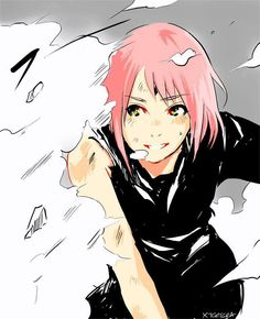 Nice fan art of Sakura from the battle with Kaguya.