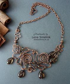 Wire necklace by Schepotkina, via Flickr