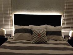 DIY Headboard : DIY Floating Headboard With LED Lighting