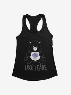 LargeImages Pop Culture Shop, Everyday Goth, Top Care, Pizza Girls, Care Bears, Tank Girl, Athletic Tank Tops, Mens Tops, Spun Cotton