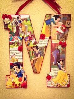 Any letter Snow White and the Seven Dwarfs by SpikaInteriors