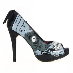 ZOMBIE STOMPER Platform Pumps GLOW IN THE DARK by Iron Fist via Sinister Soles