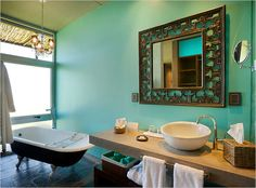 color to make modern fixtures more eclectic.