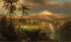 1872, Church, Frederic Edwin, Passing Shower in the Tropics - Frederic Edwin…