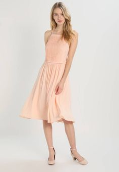 """mint&berry. Summer dress - nude. Our model's height:Our model is 71.0 """" tall and is wearing size 12. Fit:tailored. Outer fabric material:100% polyester. Pattern:plain. Care instructions:do not tumble dry,machine wash at 30°C,Machi..."""