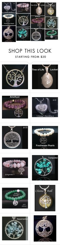 """""""Tree of Life Jewelry collage # MyTreeOfLifeJewelry"""" by my-tree-of-life ❤ liked on Polyvore featuring Harmony Ball Company"""