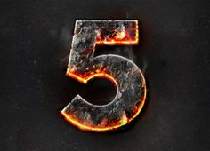Fire Photoshop Text Effect