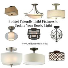 budget friendly light fixtures to update your lighting in any room, ideas for replacing flush mount lights
