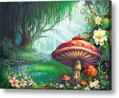 Enchanted Forest Acrylic Print By Philip Straub