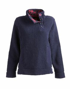 Joules null Womens Fleece, French Navy.                     Warm, cosy and lightweight. So soft you won't believe your fingers. Just the thing to take off a chill.