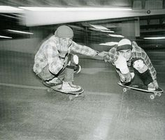 Steve Caballero and Lance Mountain